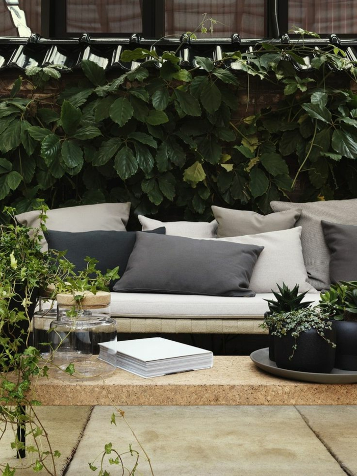 canape de jardin en bois maison design. Black Bedroom Furniture Sets. Home Design Ideas