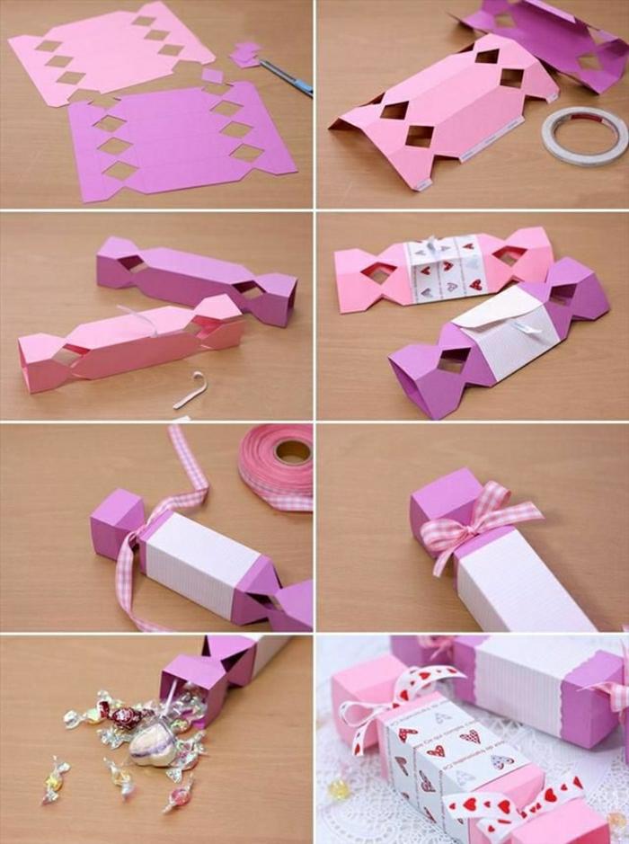 1-diy-idee-pour-cadeau-original-en-papier-rose-quelle-pliage-papier-cadeau-pour-fille