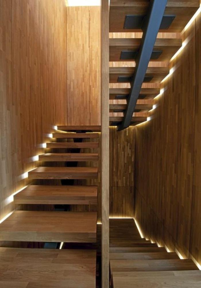 1-escalier-en-bois-foncé-pour-le-couloir-moderne-de-style-contemporain-interieur-en-bois-clair