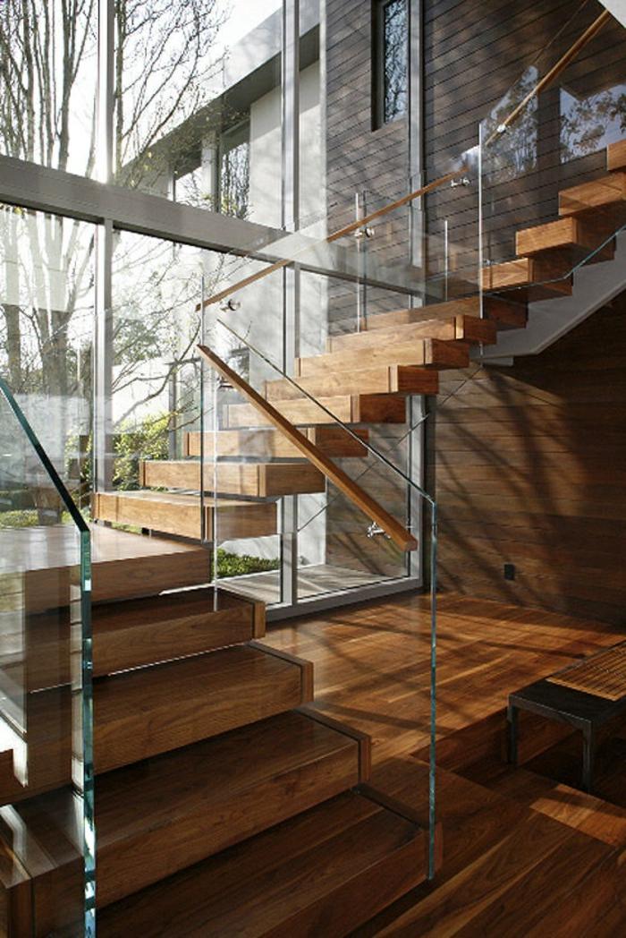 1-joli-interieur-moderne-comment-construire-escalier-tournant-en-bois-calcul-d-escalier-en-bois-clair