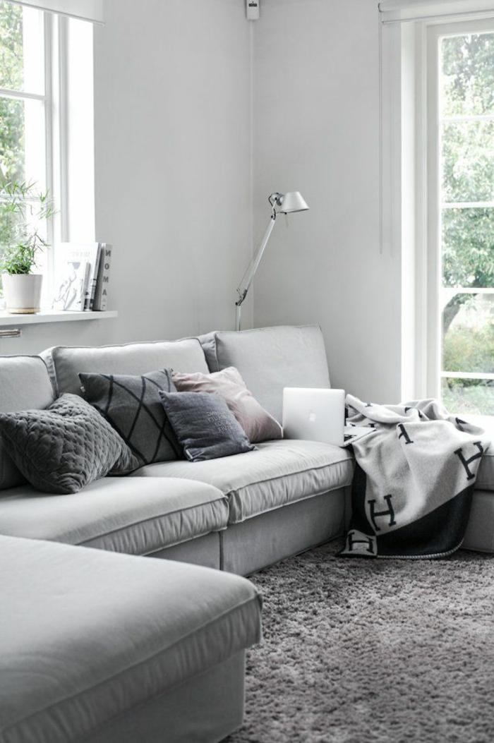 Le gros coussin pour canap en 40 photos - Coussin pour canape gris ...