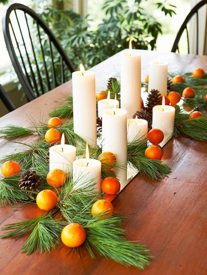 Comment incorporer la branche de sapin dans la d coration - Decorations de table pour noel ...