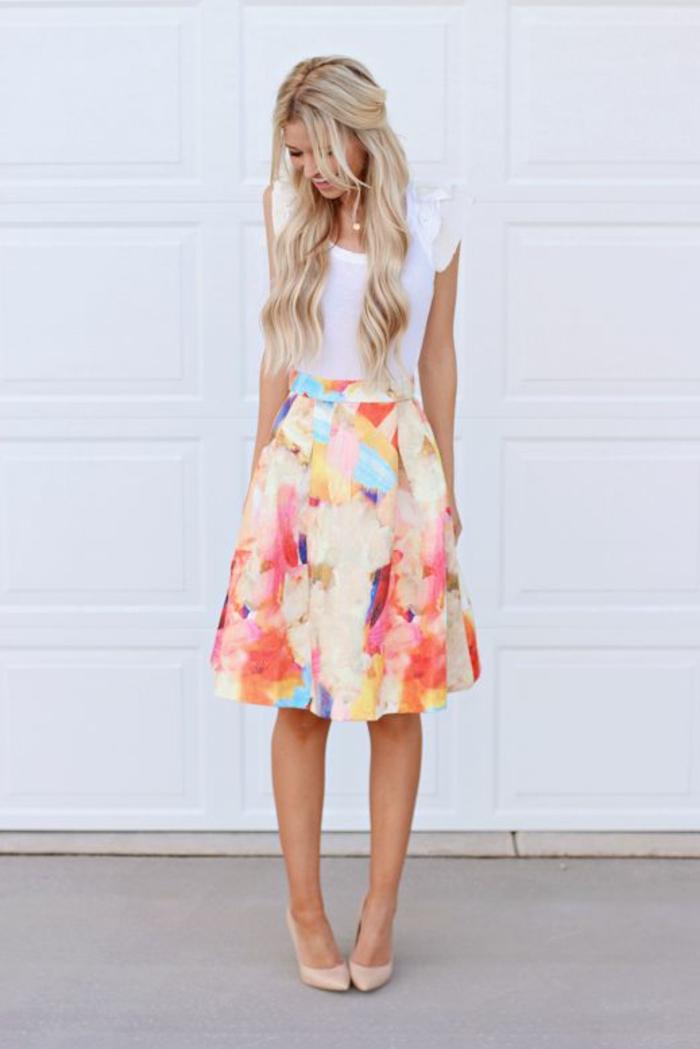 1 jupe parapluie jupe evasee coloree pour les - Jupe Colore