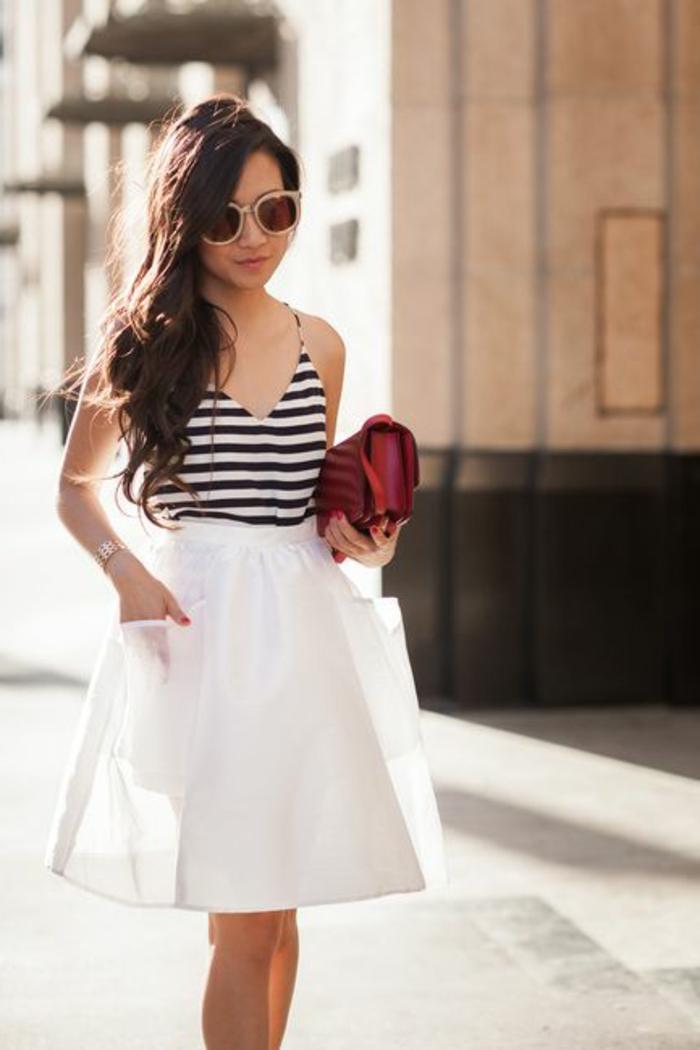 1-jupe-sequin-blanche-tendances-de-la-mode-pour-2016-fille-moderne-avec-lunettes-de-soleil