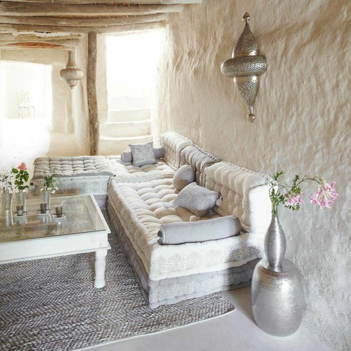 1 le bon coin salon marocain avec meubles - Sedari Marocain Blanc