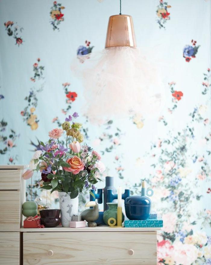 1-les-fleurs-dans-l-aménagement-moderne-chabby-chic-papier-peint-style-anglais-pour-les-murs