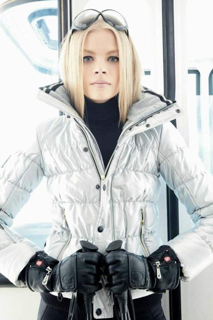 1-manteau-ski-femme-pas-cher-gris-pour-les-filles-avec-cheveux-blonds-et-yeux-bleus