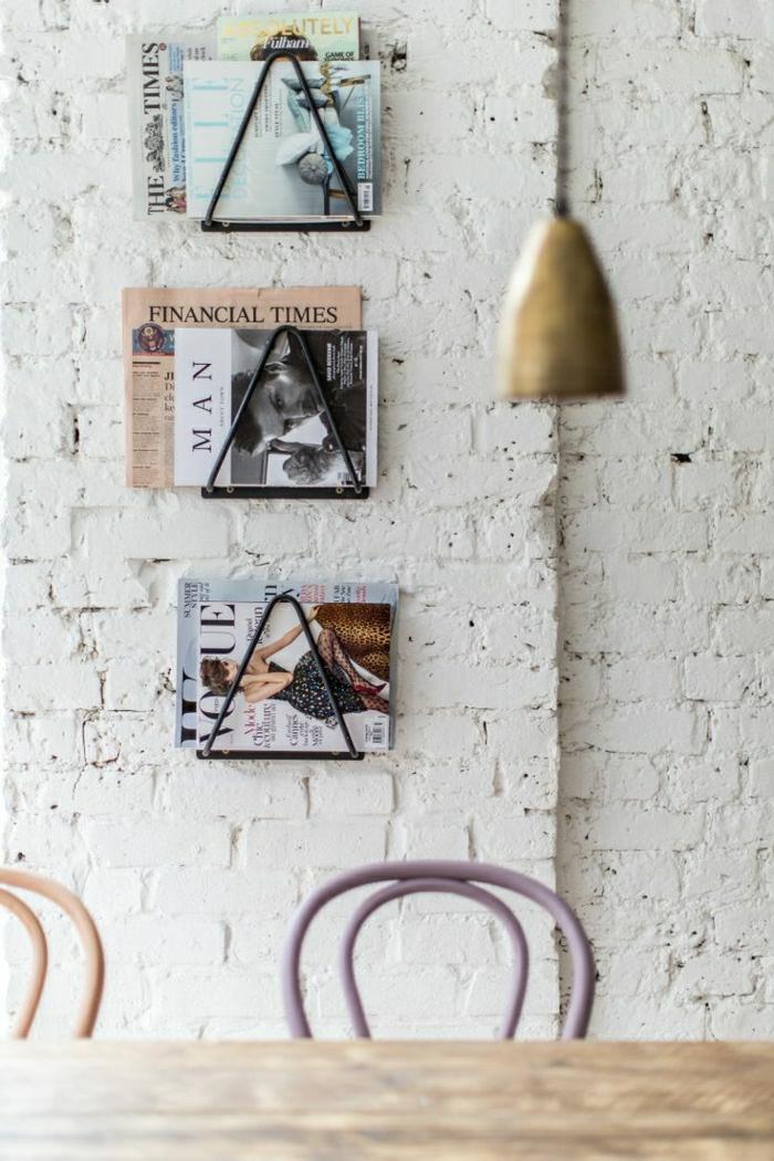 1-porte-revue-fly-mural-pour-les-murs-de-briques-blancs-comment--ranger-les-magasins-chez-vous