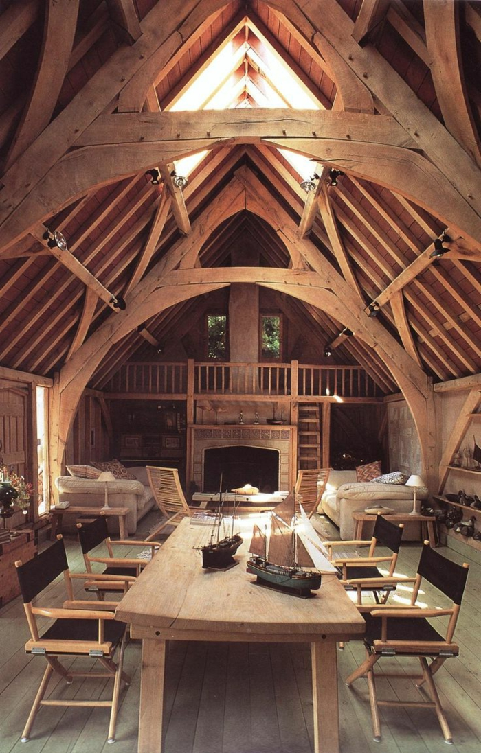 La poutre en bois dans 50 photos magnifiques - Habiller une poutre en bois ...