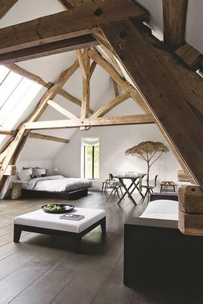 La poutre en bois dans 50 photos magnifiques - Decorer chambre a coucher ...