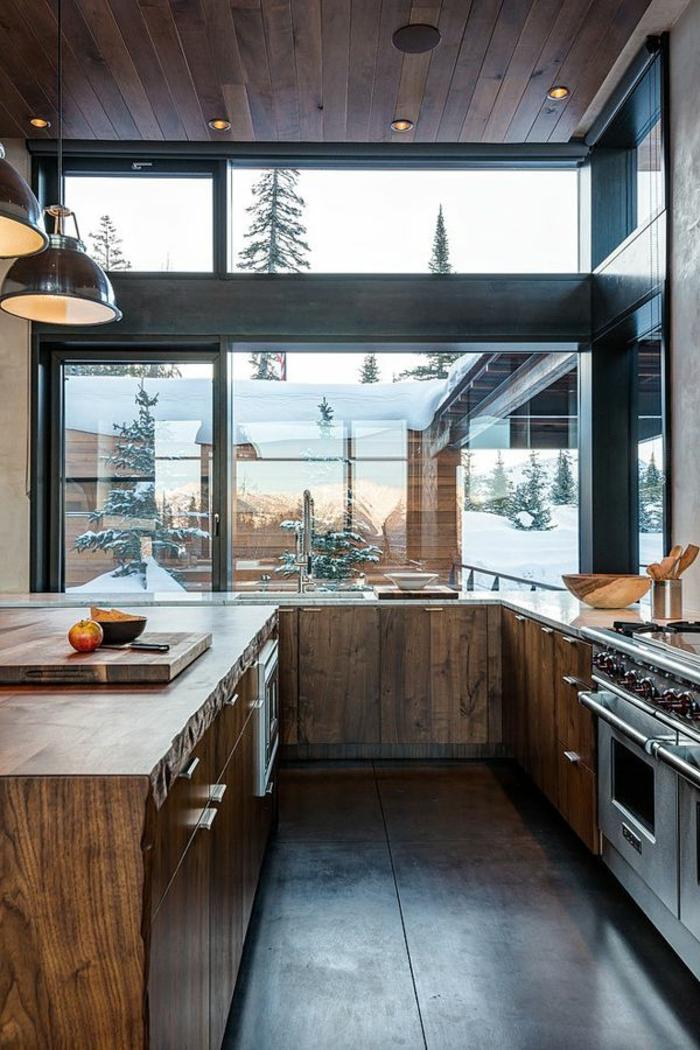 1-relooker-sa-cuisine-meubles-en-bois-foncé-et-murs-en-verre-meubles-de-cuisine-en-bois