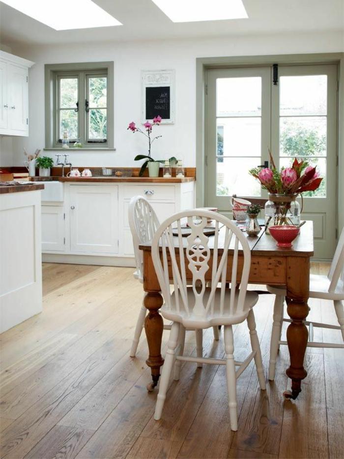 On te propose 40 variantes en photos pour r nover sa cuisine - Repeindre une cuisine en bois massif ...