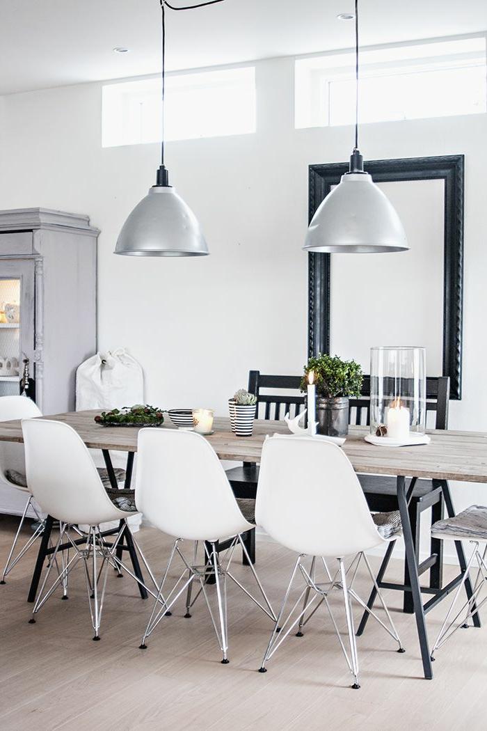 Voici la salle a manger contemporaine en 62 photos for Meuble salle À manger avec chaise contemporaine blanche