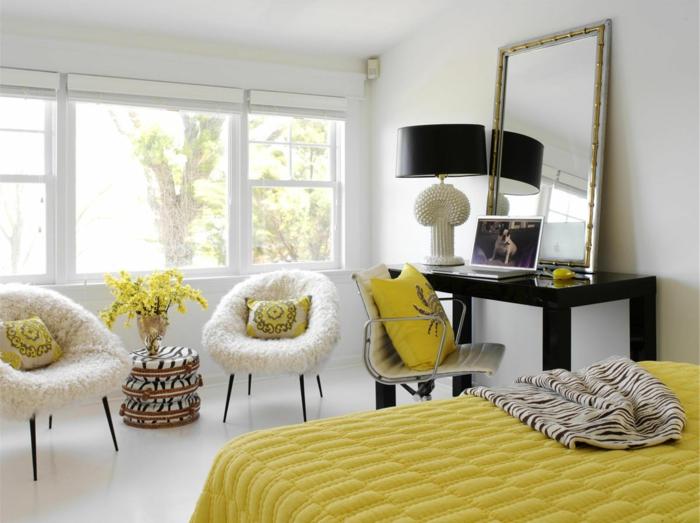 1-significations-des-couleurs-une-jolie-chambre-jaune-avec-murs-blancs-pour-la-hambre-à_coucher