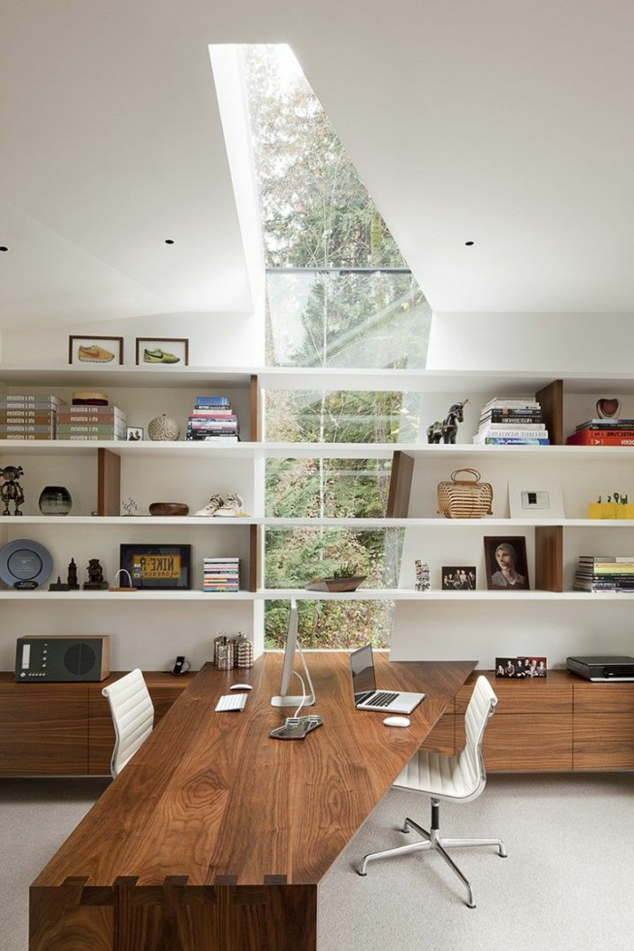 Beaucoup de rangements en photos pour un bureau feng shui for Creer un meuble bureau
