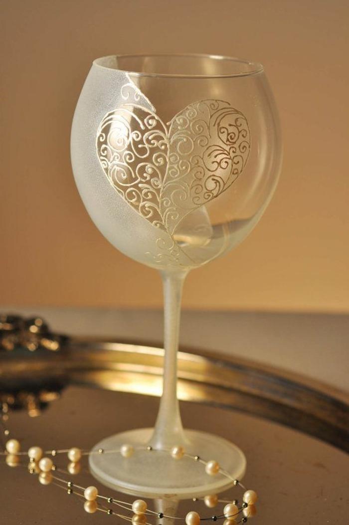 Les verres vin comment les d corez vous m mes - Verre securit pour table ...