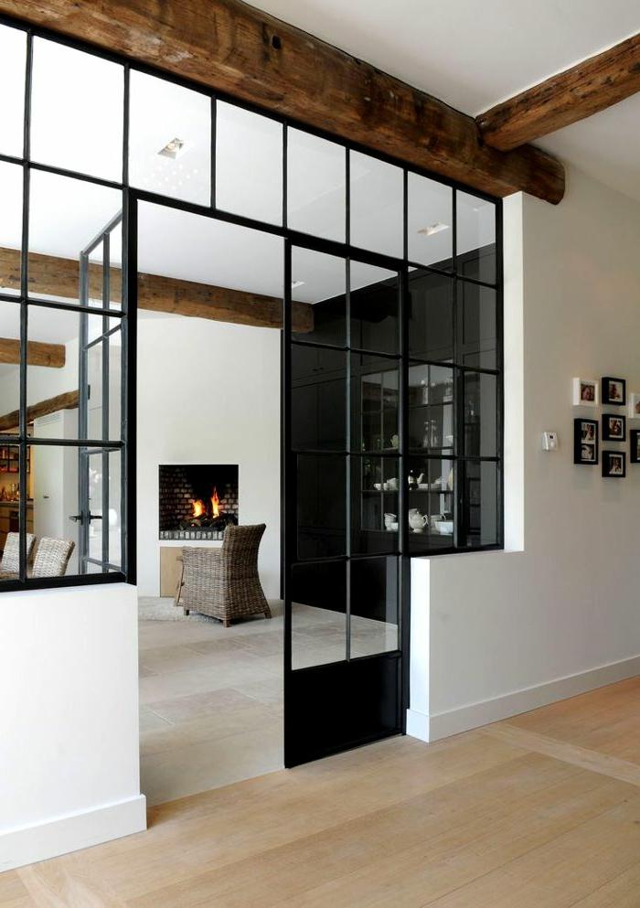 La verri re d int rieur une vraie tendance en 40 images - Construction maison style loft ...