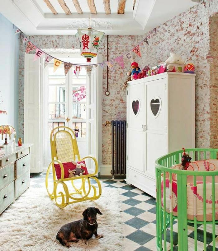 12-armoire-enfant-ikea-pas-cher-pour-la-plus-belle-chambre-d-enfant-sol-en-carrelage-blanc-noir