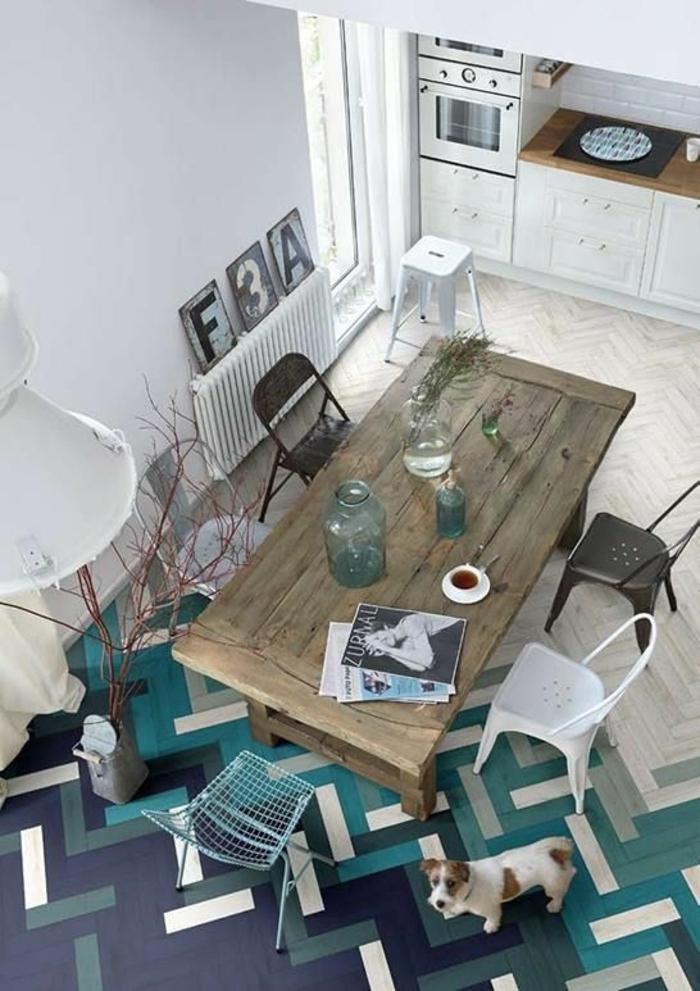 2-idee-deco-sejour-salle-a-manger-complete-pas-cher-sol-en-carrelage-colore