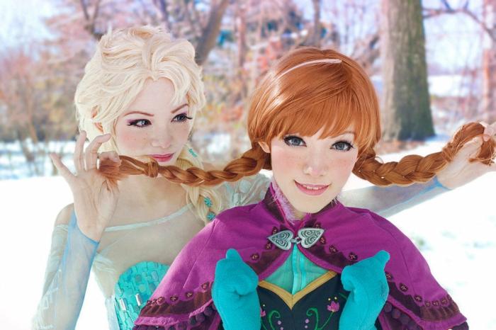 4-comment-se-déguiser-pour-Toussaint-déguisement-de-halloween-frozen-elsa-et-anna