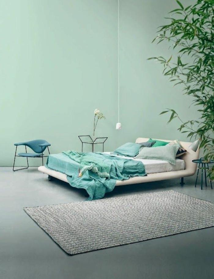 44-joli-salle-a-coucher-avec-murs-verts-et-tapis-gris-pour-les-murs-dans-la-chambre-à-coucher
