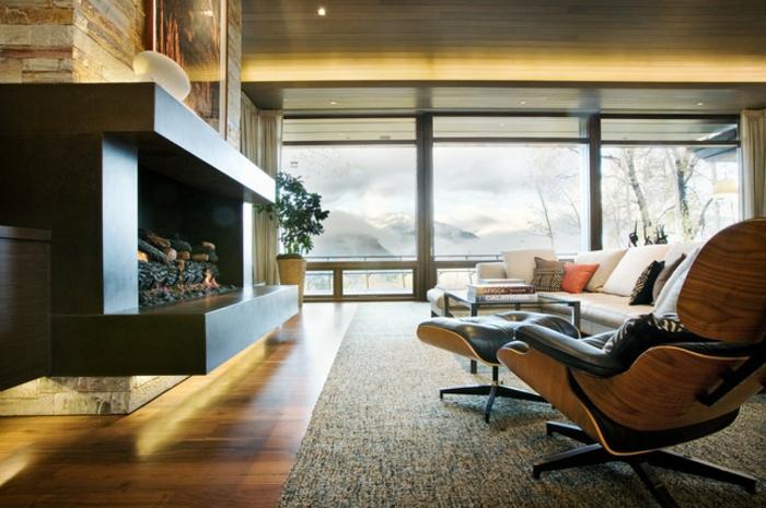 Baie-à-galandage-en-aluminium-idée-design-d-intérieur-beauté-cheminée-vue
