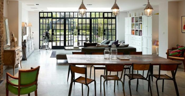 Baie-à-galandage-en-aluminium-idée-design-d-intérieur-belle-salle-de-séjour-qui-donne-au-jardin