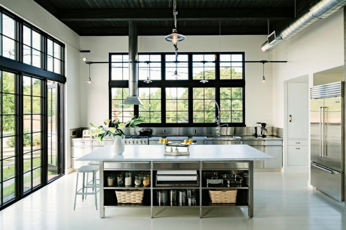 Baie-à-galandage-en-aluminium-idée-design-d-intérieur-cuisine-aménagement-moderne-metal