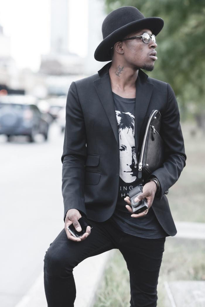 Chic-casuel-bohème-chic-tenue-homme-casual-chic-homme-en-noir-coutume-cool