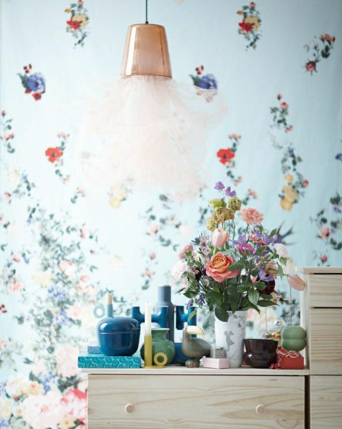 Décoration-mural-papier-peint-designer-guild-bleu-clair