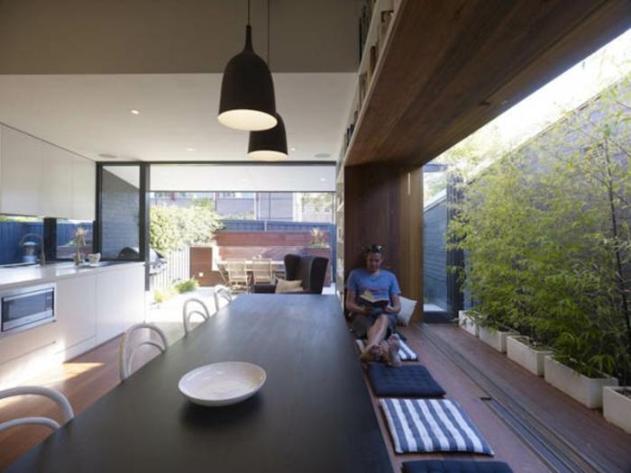 galandage salle de sjour vaste moderne belle maison - Maison Moderne Avec Grande Baie Vitree