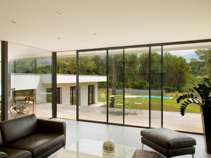 La baie vitr e 51 belles r alisations for Cuisine avec baie vitree