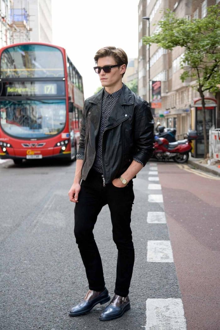 Jeans-et-veste-en-cuir-mode-automne-hiver-2015-inspiration-beau-gosse