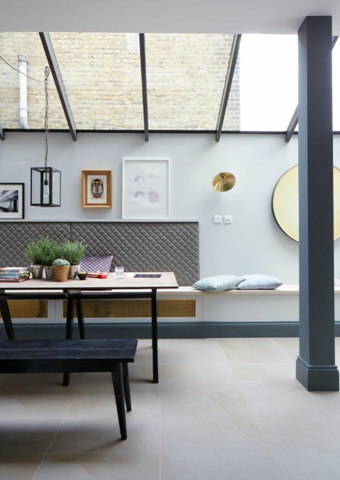 Salle-à-manger-et-cuisine-aménagement-table-cuisine-pliante-aménager-petit-espace-moderne