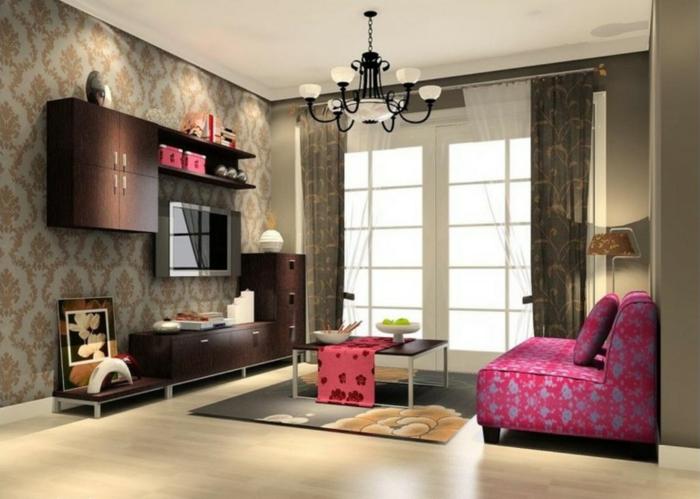 Salon-bien-aménagé-papier-peint-design-idées-déco- (5)