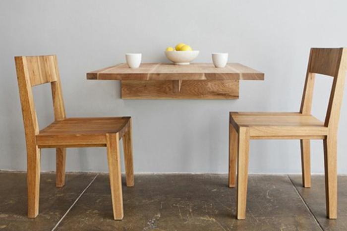 La table de cuisine pliante 50 id es pour sauver d 39 espace - Fabriquer une table pliante ...