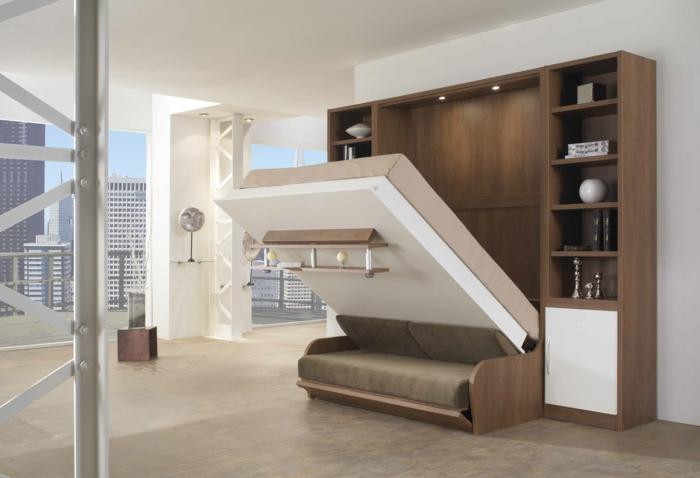 aménagement-chambre-à-coucher-lit-abatable-lit-relevable-fenetre-francais