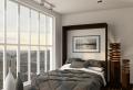 Le lit abattant – belles solutions pour sauver d'espace!