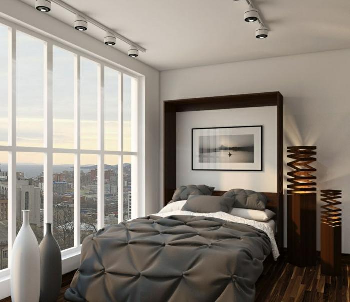 aménagement-chambre-à-coucher-lit-abatable-lit-relevable-fenetres