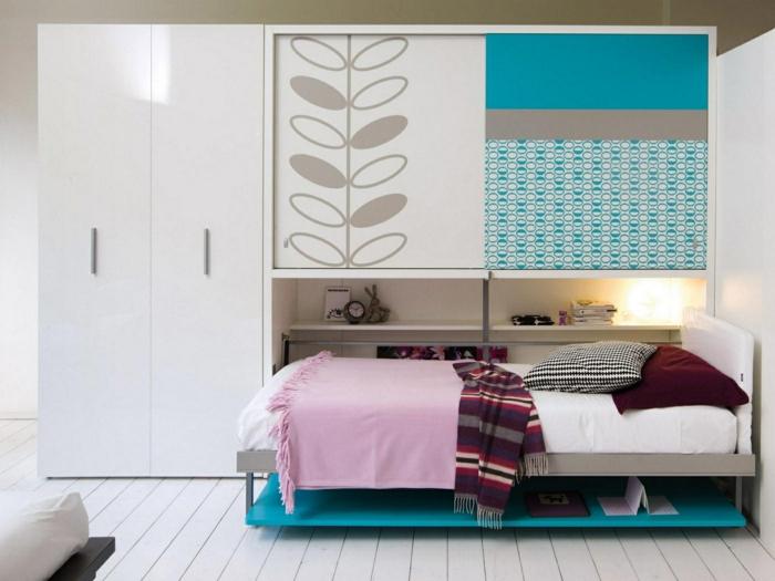 aménagement-chambre-à-coucher-lit-abatable-lit-relevable-un-armoir