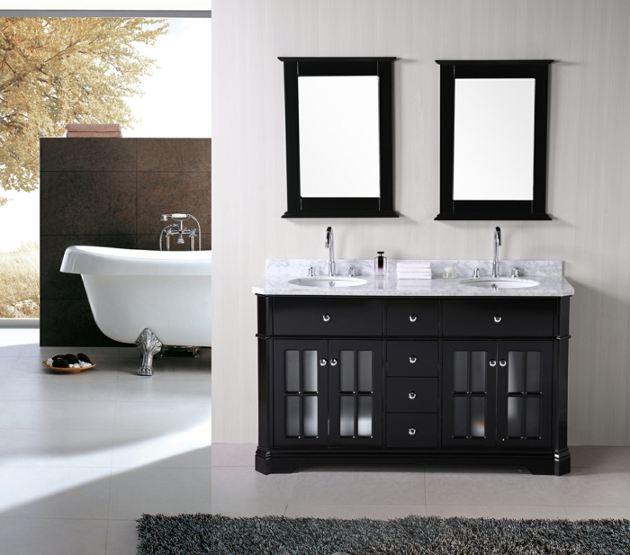 meuble double vasque 50 id es am nagement salle de bain. Black Bedroom Furniture Sets. Home Design Ideas