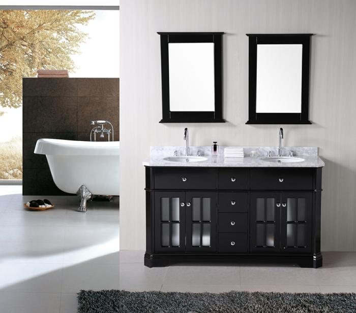 aménagement-salle-de-bain-idée-originale-lavabo-double-idée-aménager-bien-la-salle-de-bain