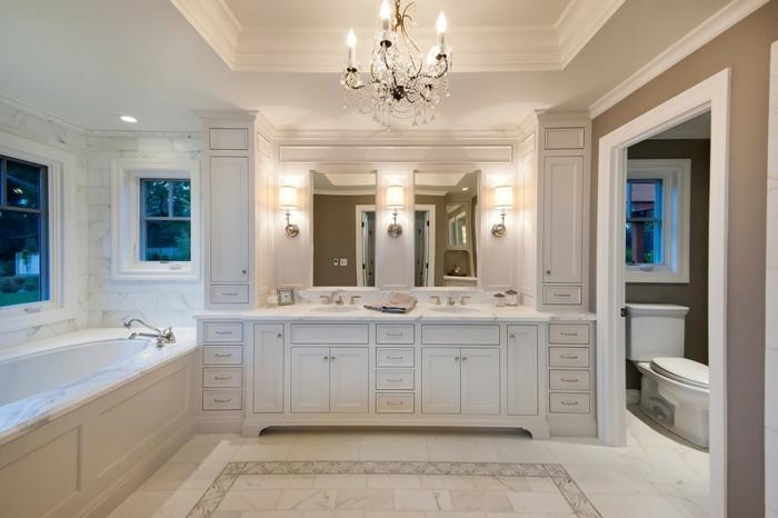 aménagement-salle-de-bain-idée-originale-lavabo-double-luxueuse