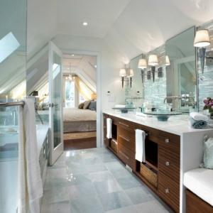 Meuble double vasque - 50 idées aménagement salle de bain