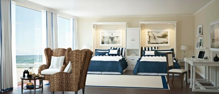 amenager-la-chambre-à-coucher-lit-griffon-pièce-design-intérieur-belle-vue