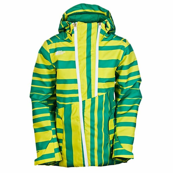 anorak-ski-femme-pas-cher-de-couleur-vert-et-jaune-manteau-ski-femme
