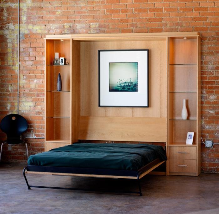 Le lit abattant belles solutions pour sauver d 39 espace for Meuble lit escamotable