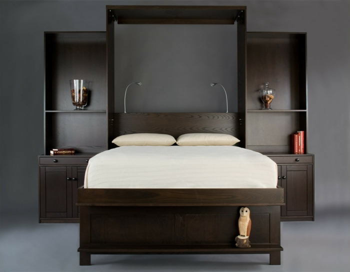 le lit abattant belles solutions pour sauver d 39 espace. Black Bedroom Furniture Sets. Home Design Ideas