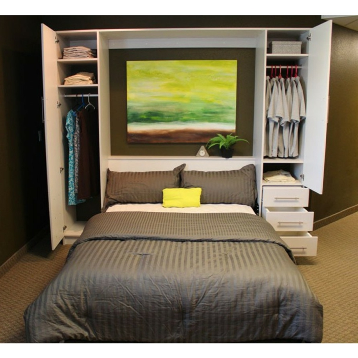 armoire-lit-escamotable-ikea-meuble-lit-aménagement-peinture-vert