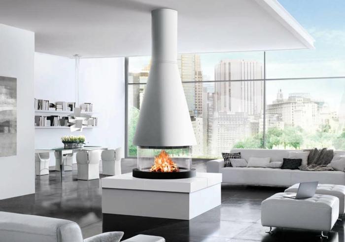 avantages-de-la-cheminée-centrale-à-foyer-fermé-blanc-vue-new-yorkais